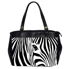Animal Cute Pattern Art Zebra Office Handbags (2 Sides)  by Amaryn4rt