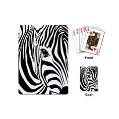 Animal Cute Pattern Art Zebra Playing Cards (mini)
