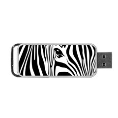 Animal Cute Pattern Art Zebra Portable Usb Flash (two Sides) by Amaryn4rt