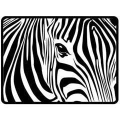 Animal Cute Pattern Art Zebra Double Sided Fleece Blanket (large)