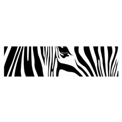 Animal Cute Pattern Art Zebra Satin Scarf (oblong)