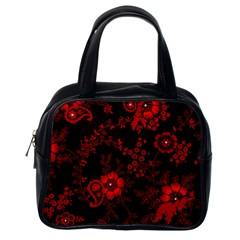 Small Red Roses Classic Handbags (one Side) by Brittlevirginclothing