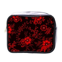 Small Red Roses Mini Toiletries Bags by Brittlevirginclothing