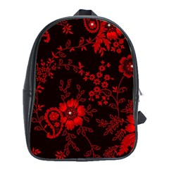 Small Red Roses School Bags (xl)  by Brittlevirginclothing