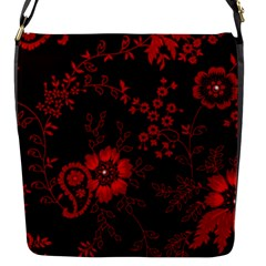 Small Red Roses Flap Messenger Bag (s) by Brittlevirginclothing