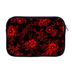 Small Red Roses Apple Macbook Pro 17  Zipper Case by Brittlevirginclothing