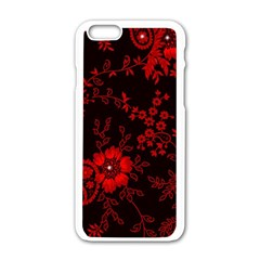 Small Red Roses Apple Iphone 6/6s White Enamel Case by Brittlevirginclothing
