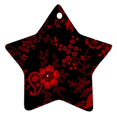 Small Red Roses Ornament (star)  by Brittlevirginclothing
