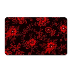 Small Red Roses Magnet (rectangular) by Brittlevirginclothing