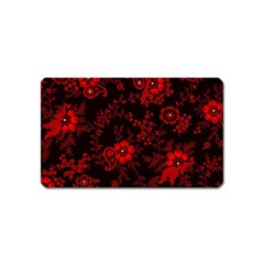 Small Red Roses Magnet (name Card) by Brittlevirginclothing