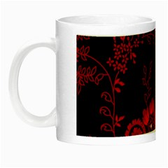 Small Red Roses Night Luminous Mugs by Brittlevirginclothing