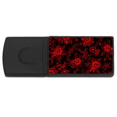 Small Red Roses Usb Flash Drive Rectangular (4 Gb)  by Brittlevirginclothing