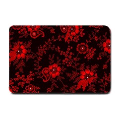 Small Red Roses Small Doormat  by Brittlevirginclothing