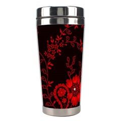 Small Red Roses Stainless Steel Travel Tumblers by Brittlevirginclothing