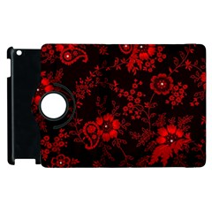 Small Red Roses Apple Ipad 2 Flip 360 Case by Brittlevirginclothing