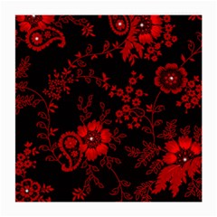 Small Red Roses Medium Glasses Cloth (2 Side) by Brittlevirginclothing
