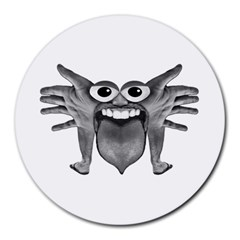 Body Part Monster Illustration Round Mousepads by dflcprints