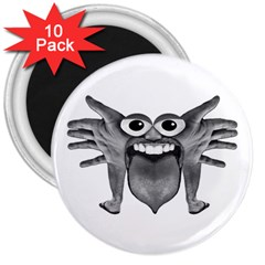 Body Part Monster Illustration 3  Magnets (10 Pack)  by dflcprints