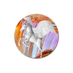 Pegasus Magnet 3  (round) by icarusismartdesigns