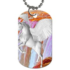 Pegasus Dog Tag (one Side) by icarusismartdesigns
