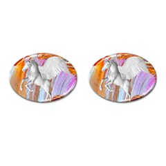 Pegasus Cufflinks (oval) by icarusismartdesigns