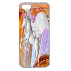 Pegasus Apple Seamless Iphone 5 Case (clear) by icarusismartdesigns