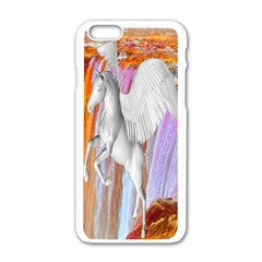 Pegasus Apple Iphone 6/6s White Enamel Case by icarusismartdesigns