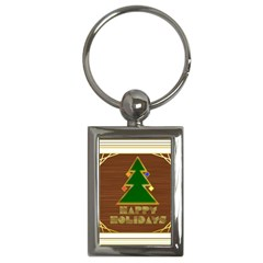 Art Deco Holiday Card Key Chains (rectangle)