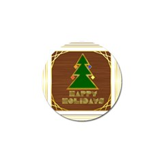 Art Deco Holiday Card Golf Ball Marker