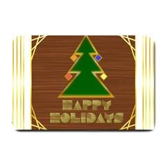 Art Deco Holiday Card Small Doormat
