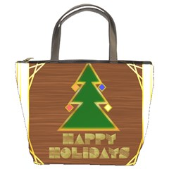 Art Deco Holiday Card Bucket Bags