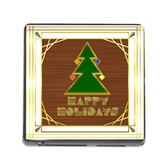 Art Deco Holiday Card Memory Card Reader (square)