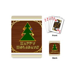 Art Deco Holiday Card Playing Cards (mini)