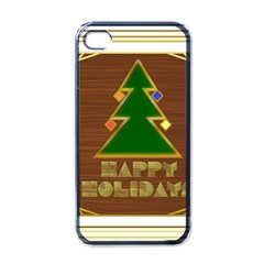 Art Deco Holiday Card Apple Iphone 4 Case (black)