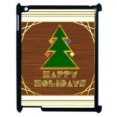Art Deco Holiday Card Apple Ipad 2 Case (black)
