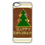 Art Deco Holiday Card Apple iPhone 5 Case (Silver) Front