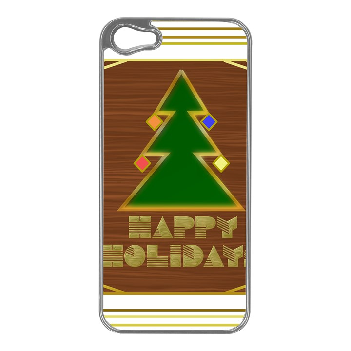 Art Deco Holiday Card Apple iPhone 5 Case (Silver)