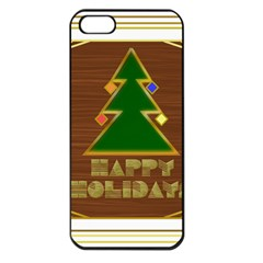 Art Deco Holiday Card Apple Iphone 5 Seamless Case (black)