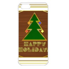 Art Deco Holiday Card Apple Iphone 5 Seamless Case (white) by Amaryn4rt