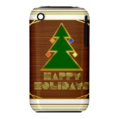 Art Deco Holiday Card Iphone 3s/3gs
