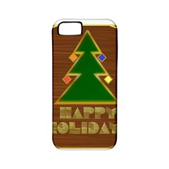 Art Deco Holiday Card Apple Iphone 5 Classic Hardshell Case (pc+silicone) by Amaryn4rt