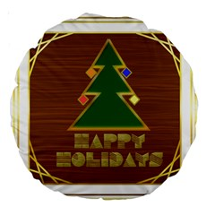 Art Deco Holiday Card Large 18  Premium Round Cushions
