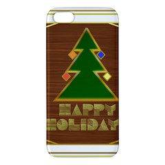 Art Deco Holiday Card Apple Iphone 5 Premium Hardshell Case