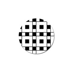 Black And White Pattern Golf Ball Marker by Amaryn4rt