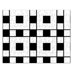 Black And White Pattern Rectangular Jigsaw Puzzl