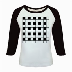 Black And White Pattern Kids Baseball Jerseys