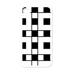 Black And White Pattern Apple Iphone 4 Case (white)