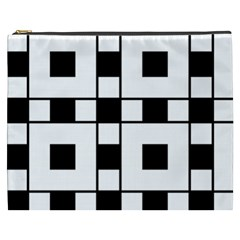 Black And White Pattern Cosmetic Bag (xxxl)