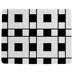 Black And White Pattern Jigsaw Puzzle Photo Stand (rectangular)