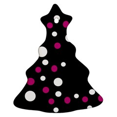 Pink And White Dots Ornament (christmas Tree) by Valentinaart
